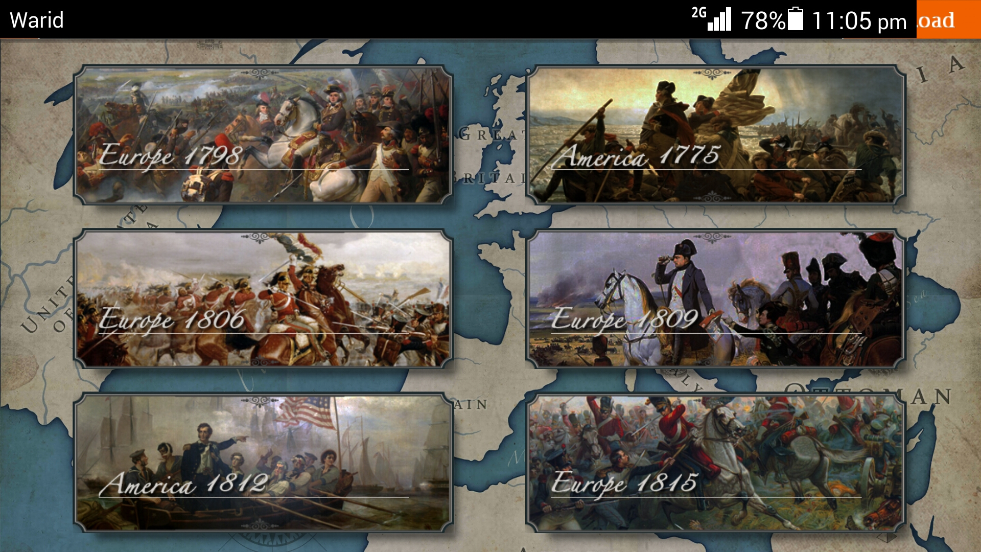 Game Yesterday Android European War